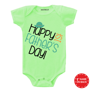 1st father's day cap onesie