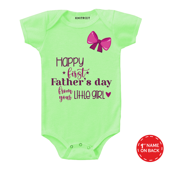 Father's day from your little girl onesie