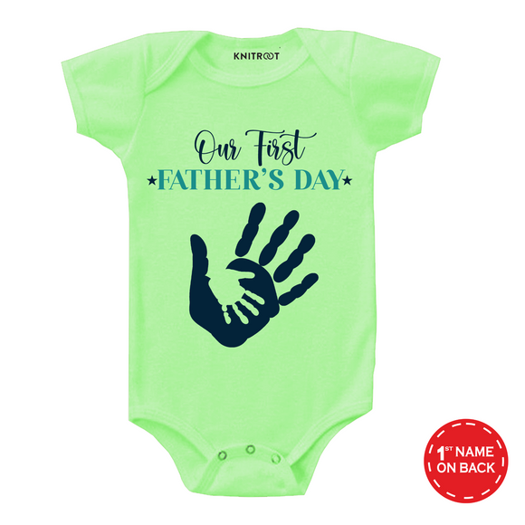 Father's day of fingers onesie