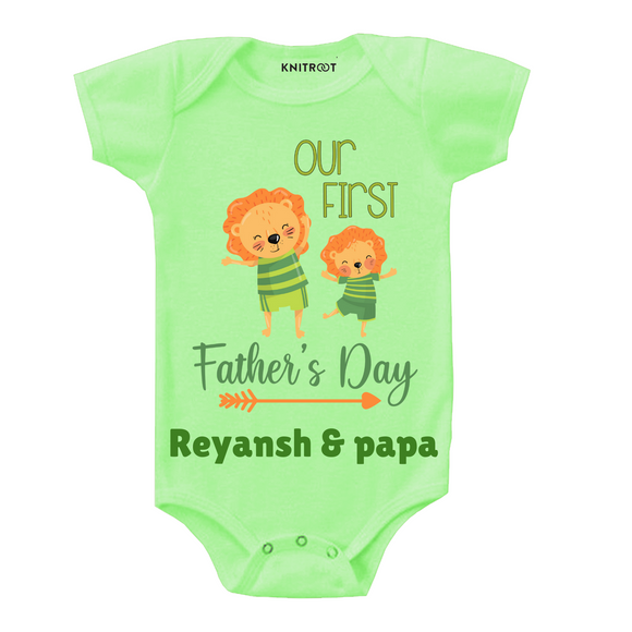 Our first father's day arrow onesie