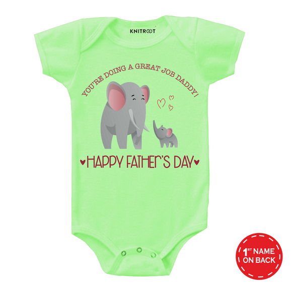 Baby elephant father's day onesie