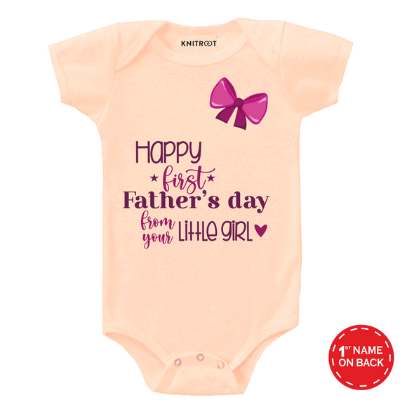 Peach father day from your little girl onesie