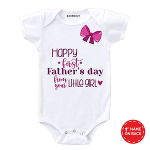 White father day from your little girl onesie