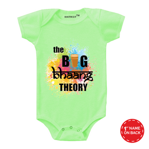 Personalised the big bhaang theory baby romper