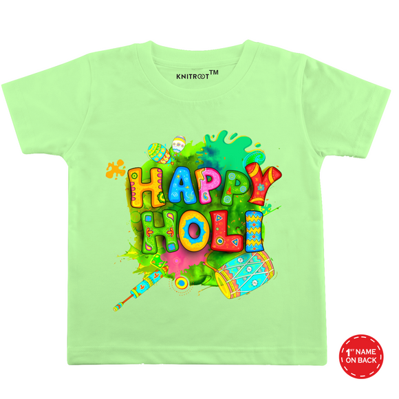Personalised happy holi t-shirt