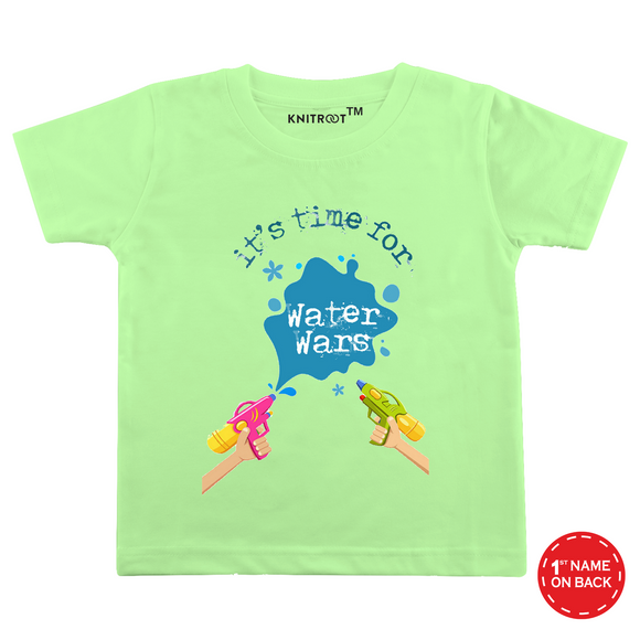 Personalised it's time for water wars t-shirt