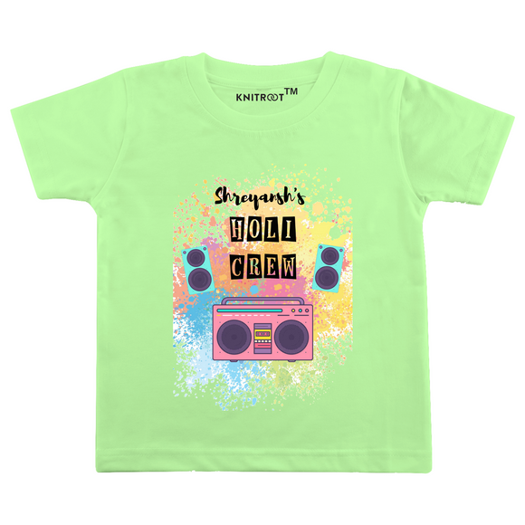 Personalised the holi crew t-shirt