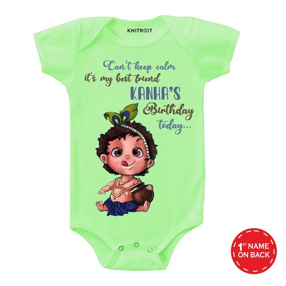 Personalised kanha birthday onesie