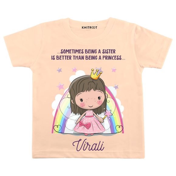 Personalised Princess sister peach t-shirt