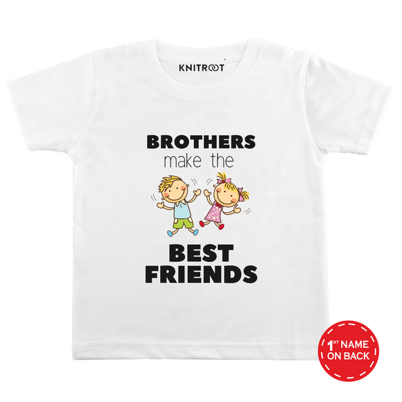 Personalised Brothers make best friend white t-shirt