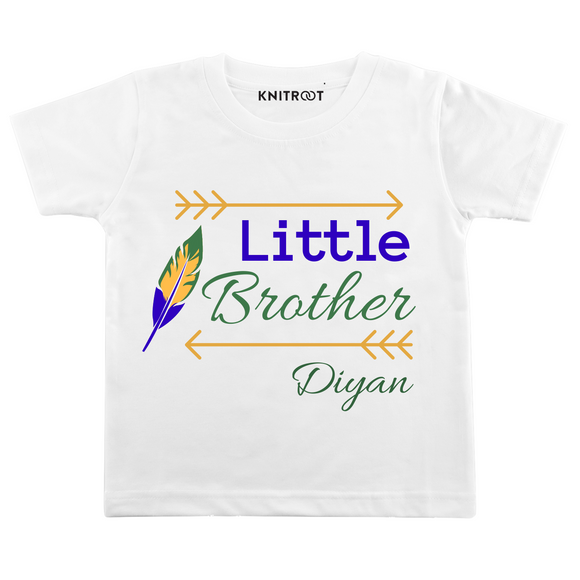 Personalised Little brother white t-shirt
