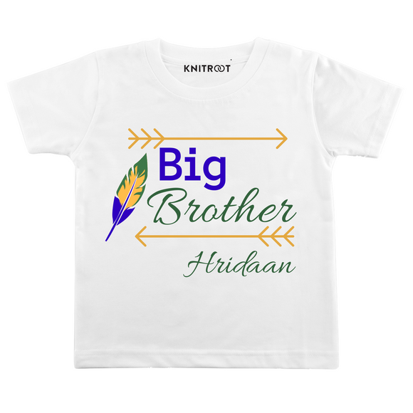Personalised Big brother white t-shirt