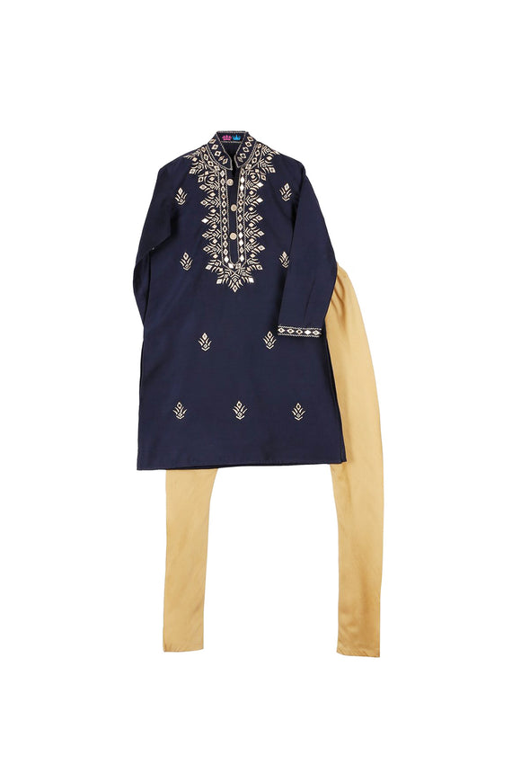 Kurta Pajama with Mirror Embroidery