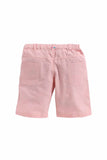 Summer Set Of White Shirt With Baby Pink Shorts