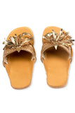 Leela gold Slipper