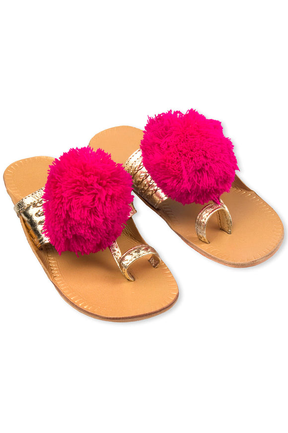 Leela Desi Gold Slipper