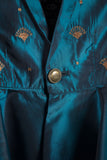 Peplum party jacket (Teal)