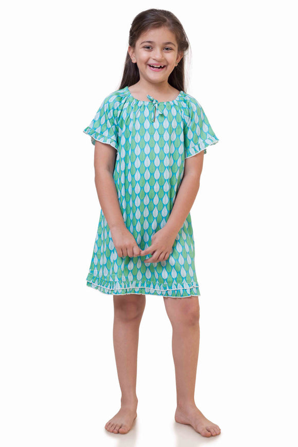 Leaf Cotton Nighty