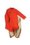 Orange Kurta With Dhoti