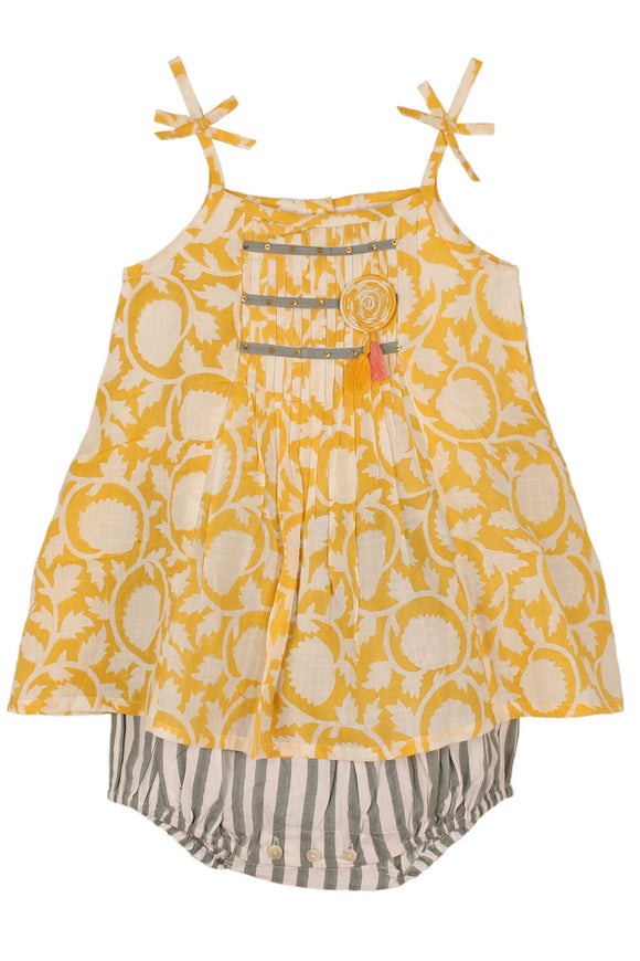 Bibi Romper Dress Yellow