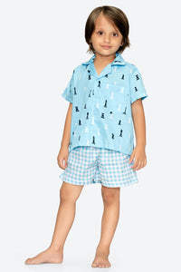 Chess  Shirt with Shorts