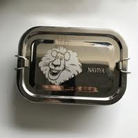 Lunch Box Steel-Lion face