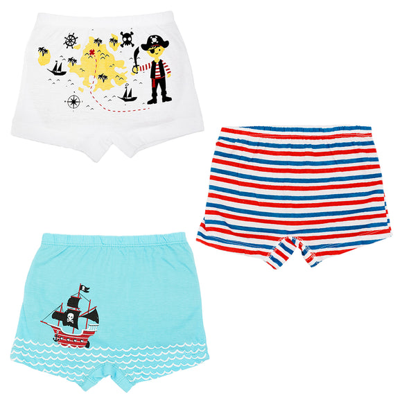 Boys treasure hunt boxer shorts