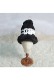 Black monkey pom pom cap! Winter caps for kids, muffler for kids, woollen caps for kids, monkey caps for kids. Woolen caps for boys. Woolen caps for girls