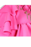 Hot Pink High Low Dress With Tutu Underskirt