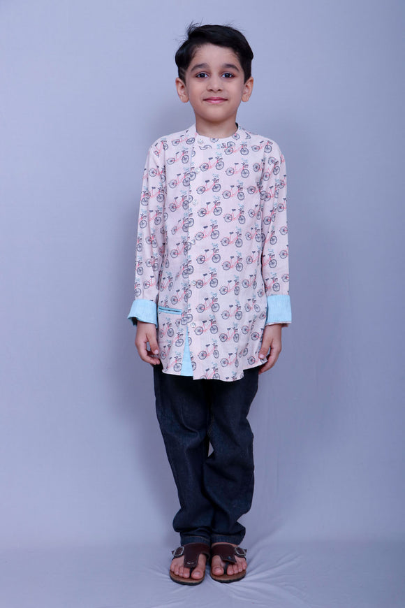 Cycle print Kurta Shirt