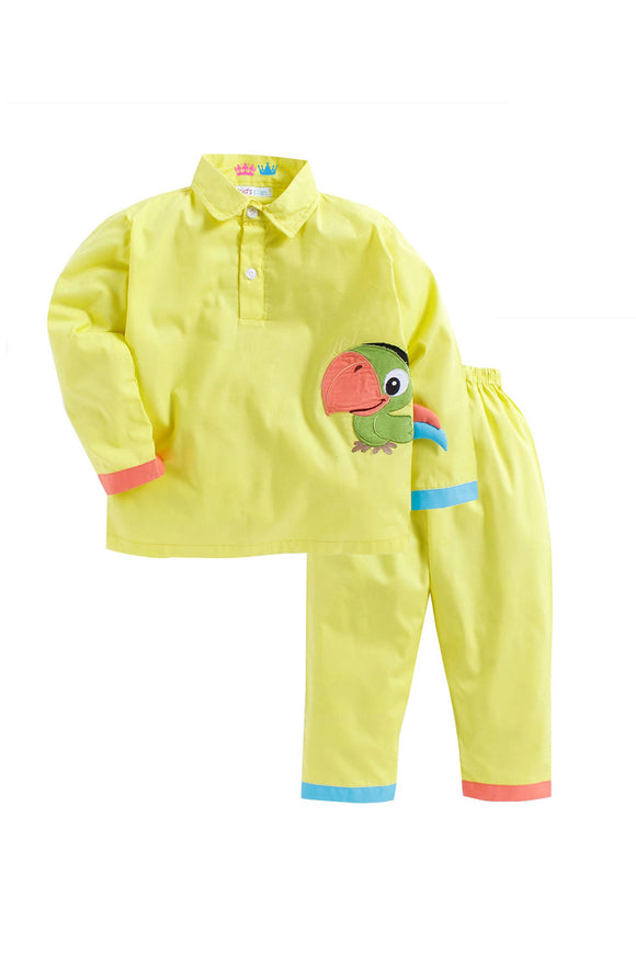 Yellow Parrot Sleepwear
