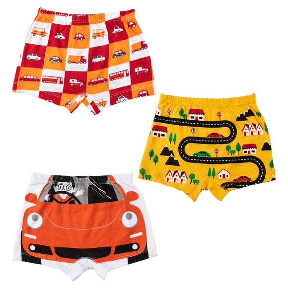 Boys road trip boxer shorts