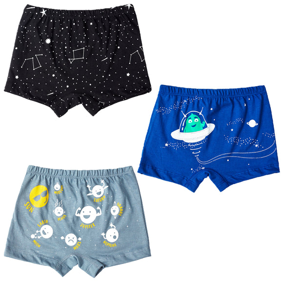 Boys spaced out boxer shorts - Set of 3