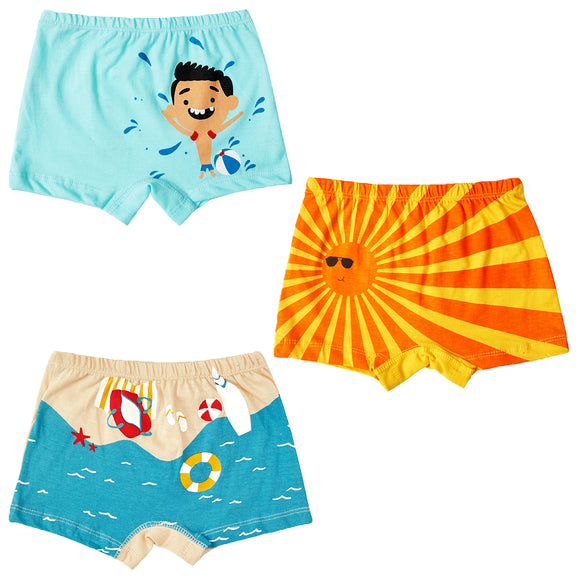 Boys printed summer holiday boxer shorts