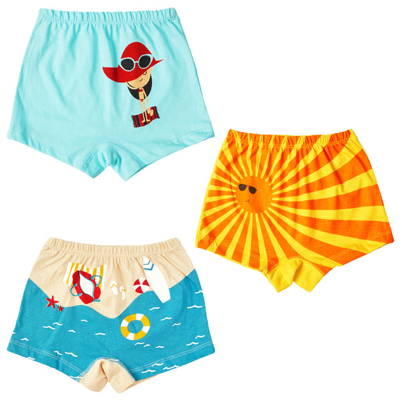 Girls summer holiday boxer shorts