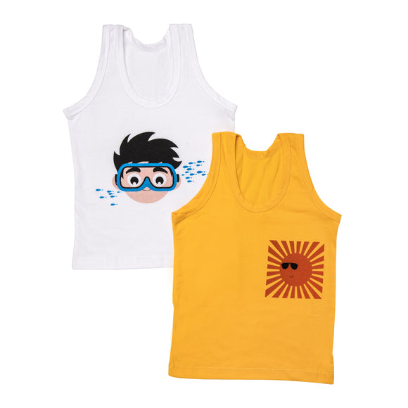 Boys summer holiday - Set of 2 vests
