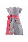 Save Our Seas Tiered Dress-Grey