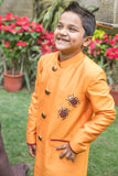 Golden bug sherwani with churidar