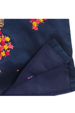 Blue Kurti and Peach Sharara Set