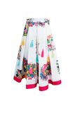 High Low Choli With Multicolored Tassel Lehenga