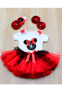 Sweet Red Mousey Tutu Outfit