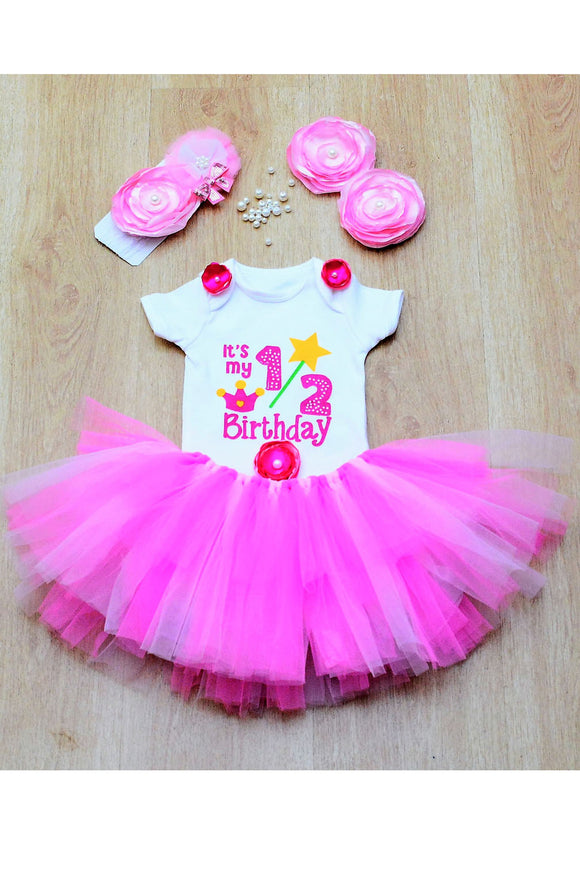 Pink Fairy Half Birthday Tutu Outfit
