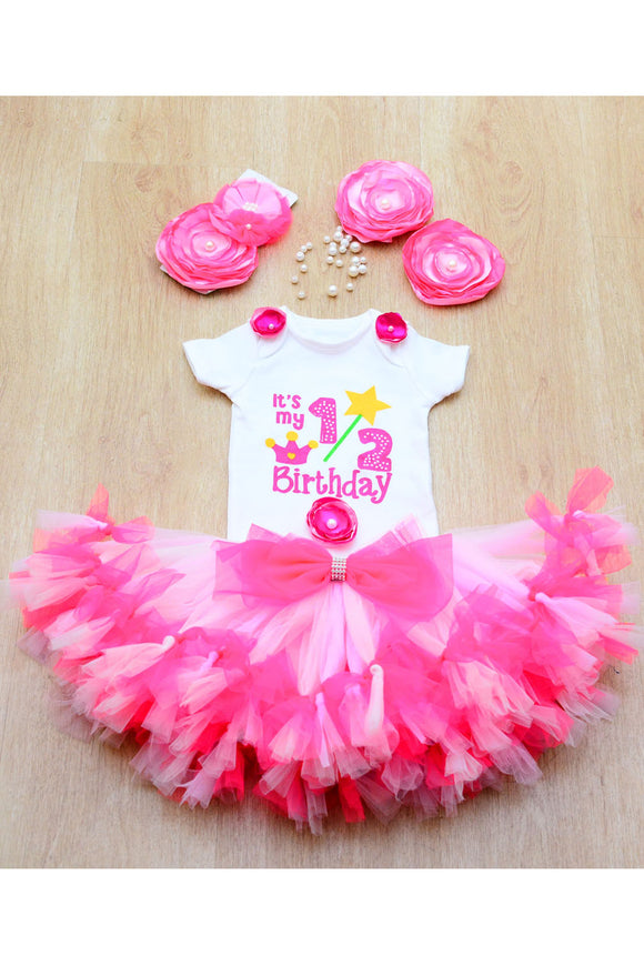 Pink Butterfly Half Birthday Tutu Outfit