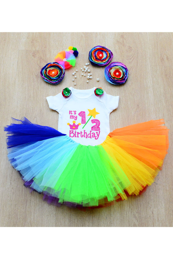 Rainbow Half Birthday Tutu Outfit