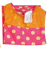 Beige/Coral polka kurta for Mother