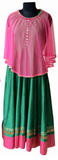 Green/pink dress for Mother