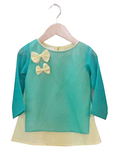 Turquoise/lime yellow kurta for Daughter