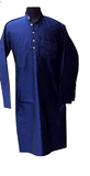 Olive green/blue embroidered Nehru jacket and kurta for Father