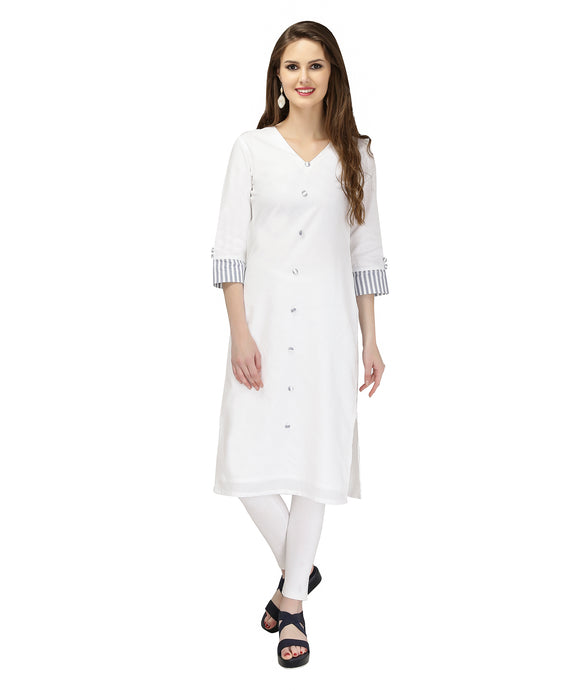 STRIPE THE CUFF COTTON KURTI