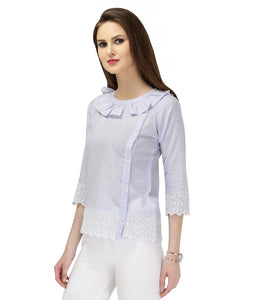 LILY BUTTON UP FRILL SHIRT